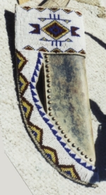 Beaded Rawhide Sheath